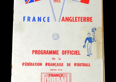 France v England 15.05.1955 - with England on the summer tour