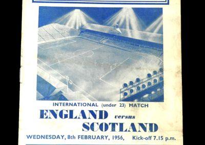 England v Scotland 08.02.1956 - Under 23s