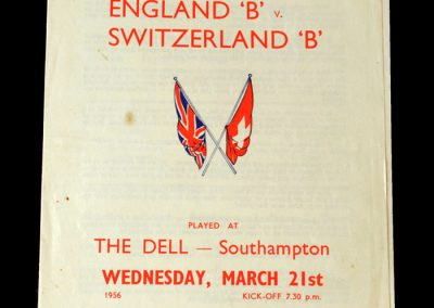England v Switzerland 21.03.1956 - B Team International