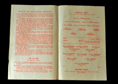 Army v French Army 28.04.1956 - conscripted by the Army to beef up their midfield
