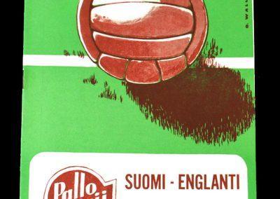 Finland v England 20.05.1956
