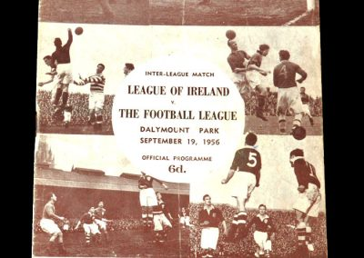 Irish League v Football League 19.09.1956