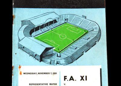 FA 11 v Army 11 07.11.1956