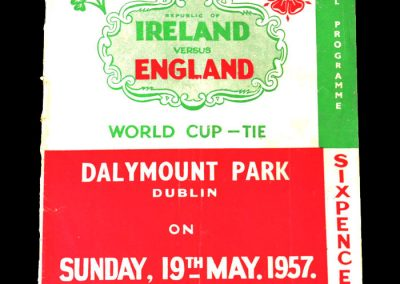 Ireland v England 19.05.1957 - World Cup Qualifier