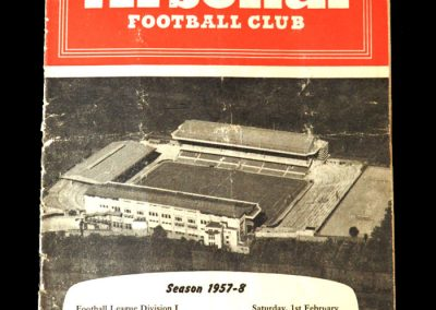 Arsenal v Man Utd 01.02.1958 - Scores in a 5-4 thriller at Highbury