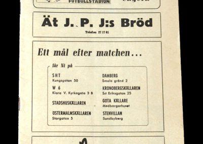 Hungary v Sweden 19.06.1949