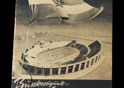 Honved v Spartak 20.08.1953 - opening of the Nepstadium
