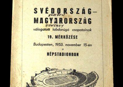 Hungary v Sweden 15.11.1953