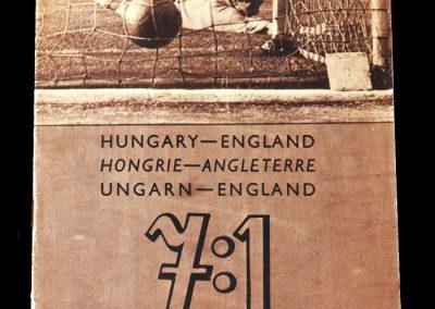 Hungary v England 23.05.1954 - Celebration Brochure