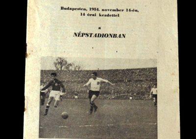 Hungary v Austria 14.11.1954 4-1