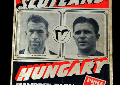 Hungary v Scotland 08.12.1954 4-2