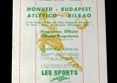 Honved v Athletico Madrid 20.12.1956 - Played in Brussels