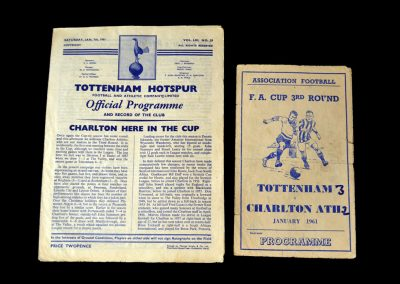 Spurs v Charlton 07.01.1961 - FA Cup 3rd Round