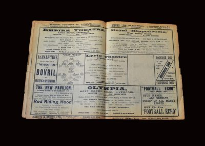 Whites v Stripes 24.01.1910 (Postponed England Trial)
