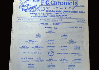 North v South 19.01.1925 (England Trial)