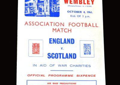 England v Scotland 04.10.1941