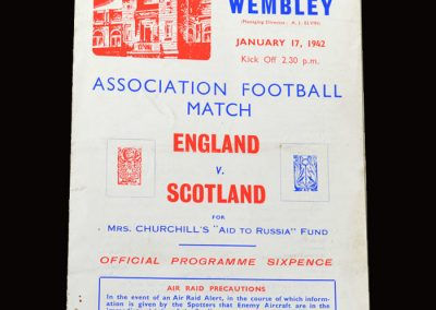 England v Scotland 17.01.1942 3-0
