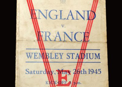 England v France 26.05.1945 (pirate programme)