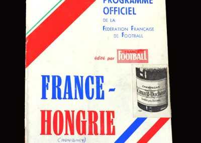 France v Hungary 07.10.1956 (2-1 win)