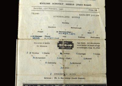 Sunderland v Stockton 23.02.1946 round 3