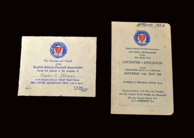 Signed menu and invite 11.05.1946