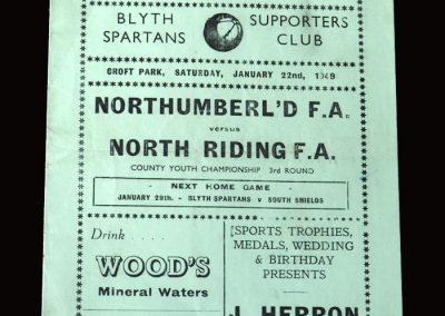 Northumberland v North Riding 22.01.1949