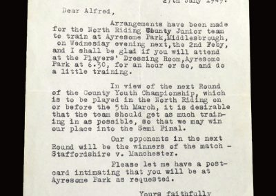 Northumberland v North Riding 22.01.1949 - Correspondence