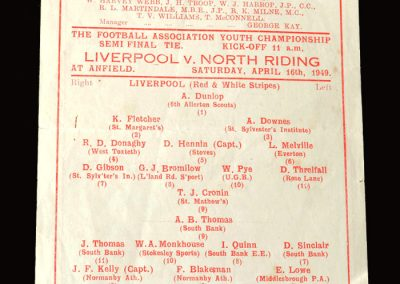Liverpool v North Riding 16.04.1949 semi final