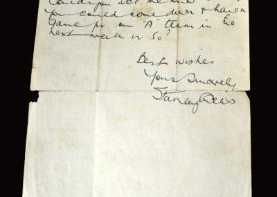 Stan Cullis letter 18.01.1950