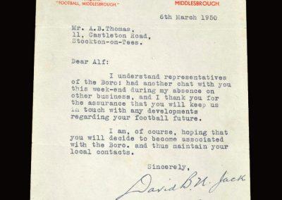 David Jack letter 06.03.1950
