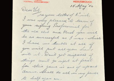 Boro letter 15.05.1950
