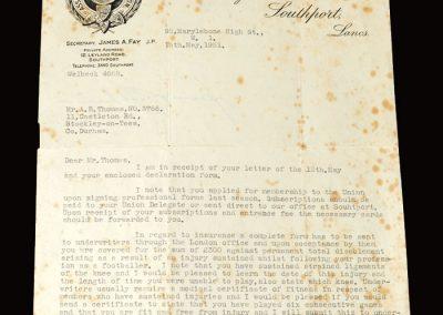 Union letter 15.05.1951