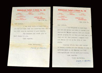 Walter Rowley letter 20.08.1952 | Walter Rowley letter 11.09.1952