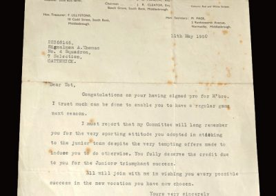 South Bank letter 11.05.1950