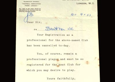 Stockton registration letter 10.09.1953
