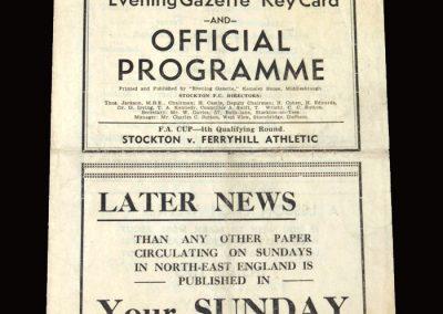 Stockton v Ferryhill 22.11.1947