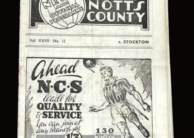 Notts County v Stockton 13.12.1947