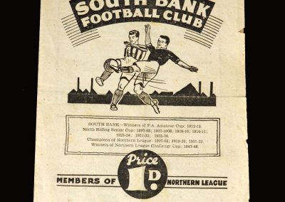 South Bank v Whitby Albion 01.10.1949