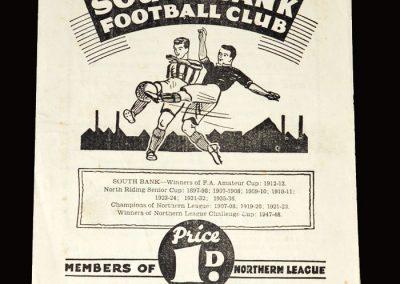 South Bank v York City Reserves 21.01.1950