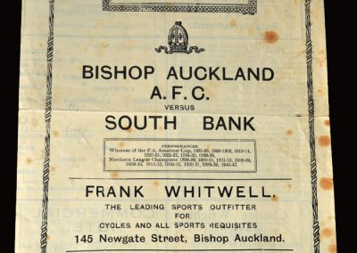 Bishop Auckland v South Bank 04.03.1950
