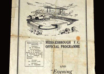 Middlesbrough Reserves v Blackhall 18.11.1950