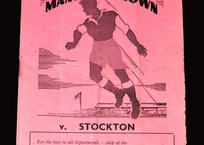 Mansfield v Stockton 28.11.1951 (FA Cup 1st Round Replay)