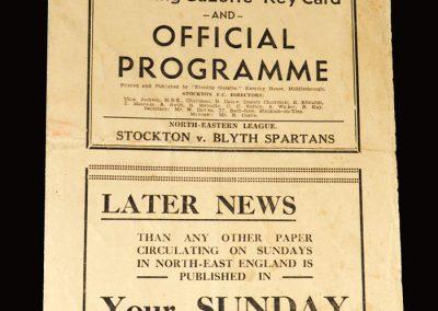 Stockton v Blyth 24.01.1953