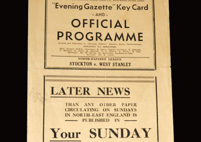 Stockton v West Stanley 31.01.1953