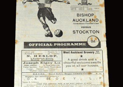 Bishop Auckland v Stockton 21.02.1953 (Durham Challenge Cup)