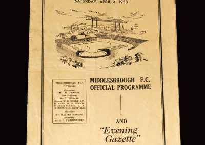 Middlesbrough Res v Blyth 03.04.1953 | Middlesbrough Res v Stockton 04.04.1953