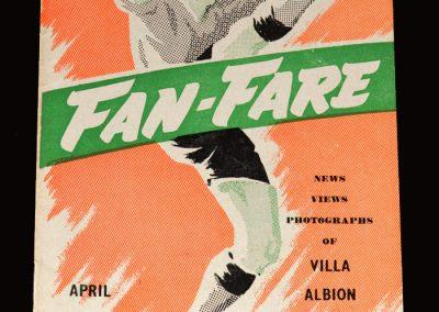 Midland Fanfare April 1955 - Villa, Albion & Birmingham