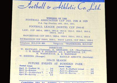 Bolton v West Brom 02.04.1955 2-4