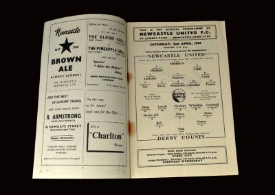 Newcastle Res v Derby Res 02.04.1955