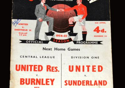 Man Utd v Sheffield Utd 02.04.1955 5-0